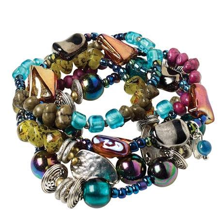 Iridescent Jeweltone Bracelet