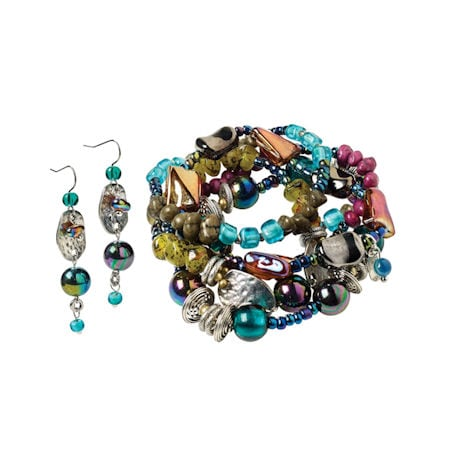 Iridescent Jeweltone Earrings
