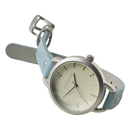 Libra Blu Leather Band Watch