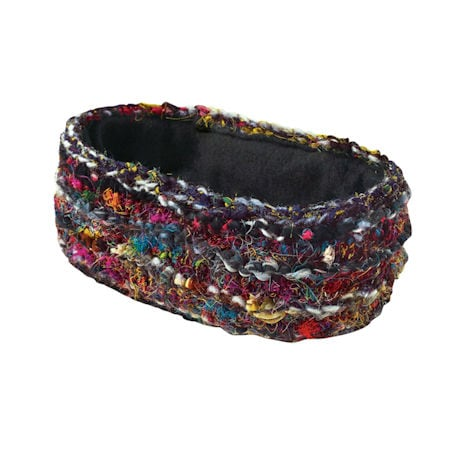 Recycled Silk Ruby-Red Accessories - Headband