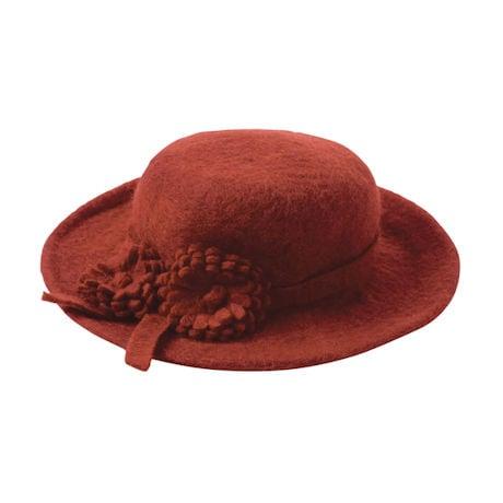 Felted Wool Flower Duet Hat