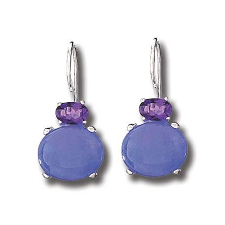 Lavender Jade & Amethyst Earrings