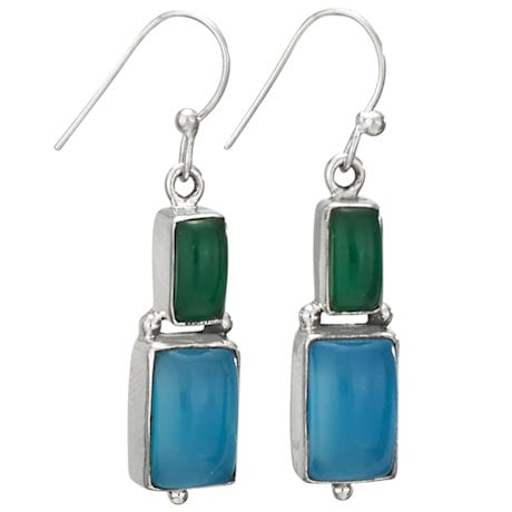 Agate & Chalcedony Double-Up Earrings