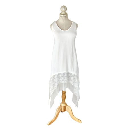 Solid Tunic Long Extender With Lace