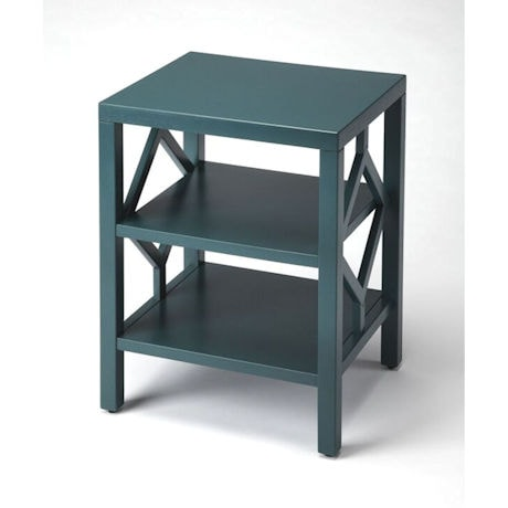 Teal 3-Tier Accent Table