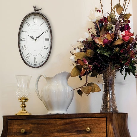 Antiqued Oval Clock