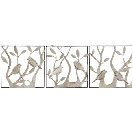 Bird Panels Wall Décor 3 Piece Set