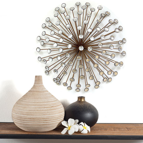 Bronze and Acrylic Burst Wall Décor