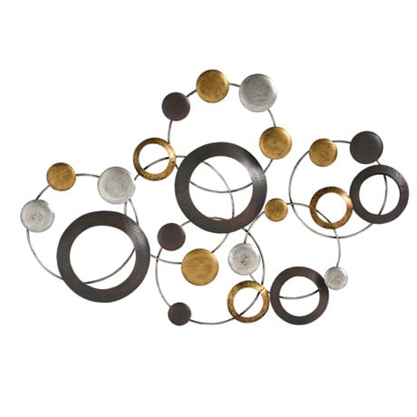 Metallic Circles Wall Décor
