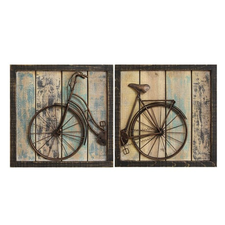 Bicycle Diptych Wall Décor