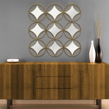 Geo Mirror Wall Décor