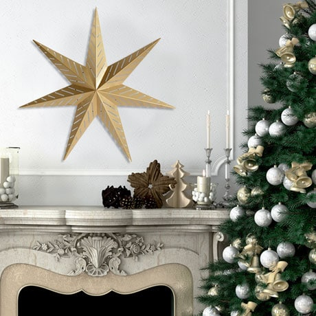 Golden Star Wall Décor