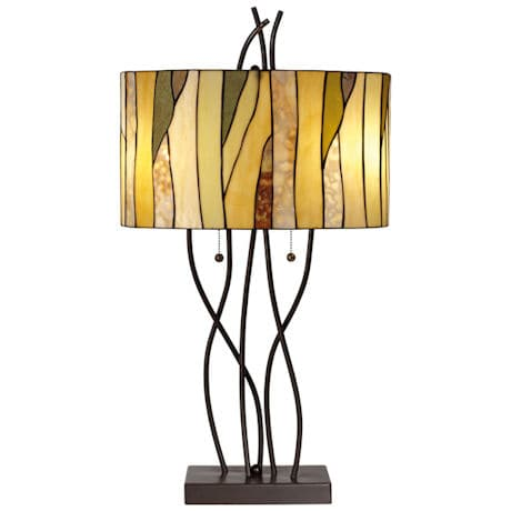 Twigs & Vines Stained Glass Table Lamp