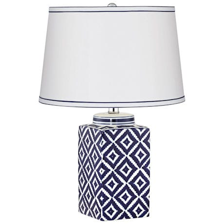Diamond Pattern Table Lamp
