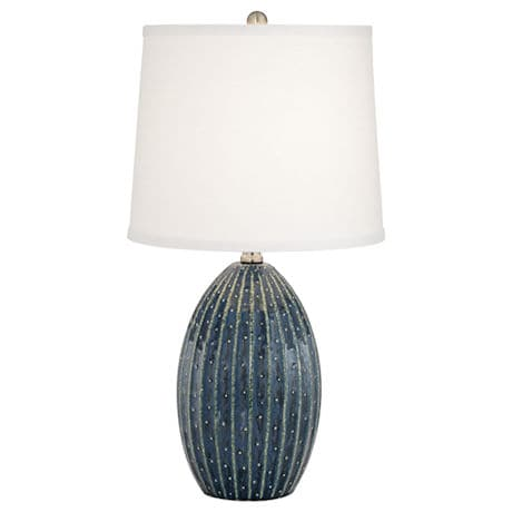 Blue Dot Ceramic Table Lamp