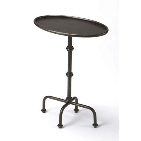 Chic Metal Pedestal Table