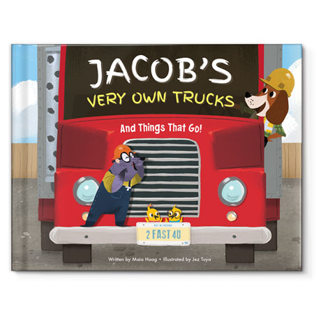 Personalized My Very Own Trucks Children's Book