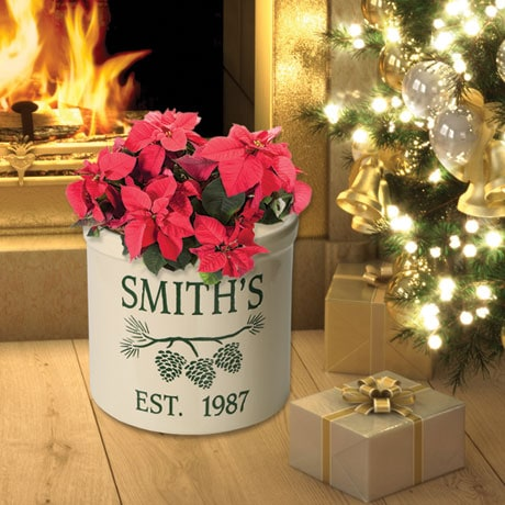 Personalized Pine Cone Crock