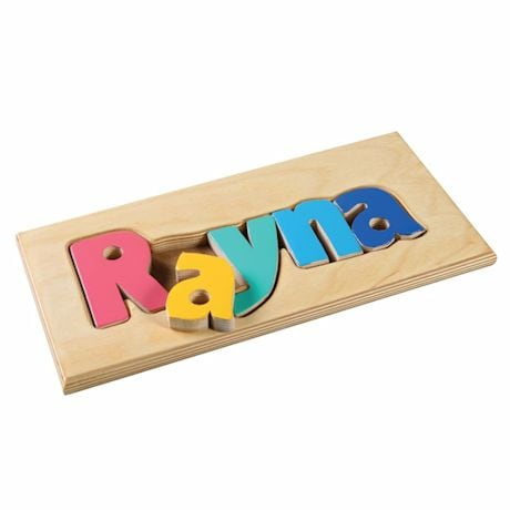 Personalized Children's Name Wooden Puzzle Board - 1-6 Letters