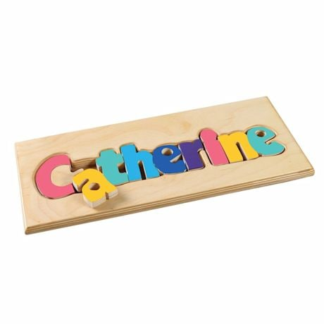 Personalized Children's Name Wooden Puzzle Board - 7-12 Letters