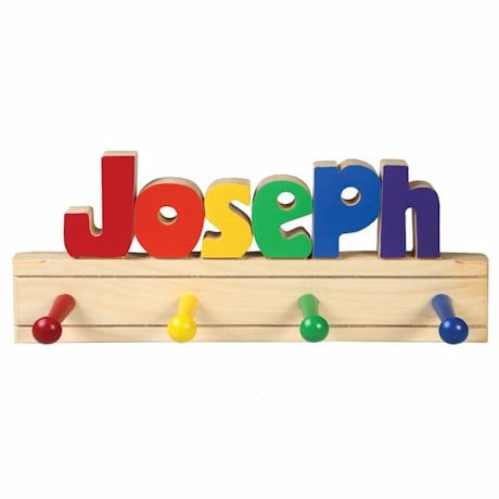 Personalized Children's Wooden Coat Rack - 1-6 Letters