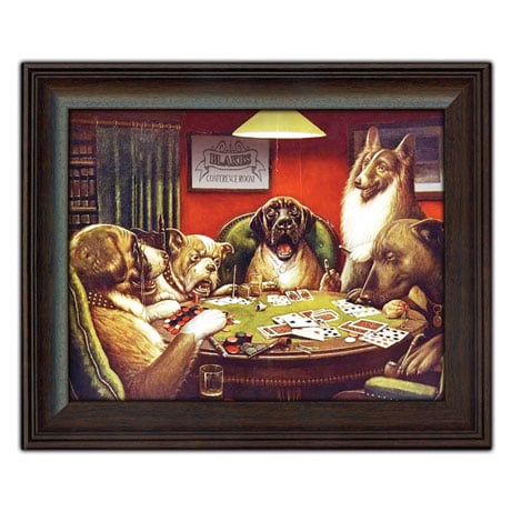 """Personalized Framed """"Dogs Playing Poker"""" Print"""