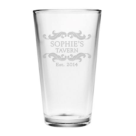 Personalized Family Tavern Pint Glasses - Set of 4