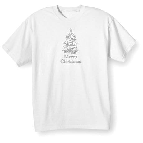 Children's Color Your Own Christmas Tree T-Shirt & Markers Set