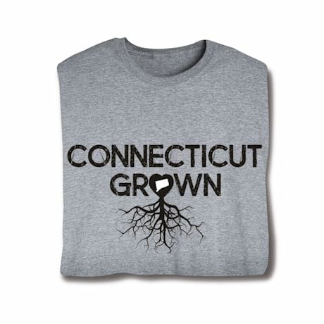 """Homegrown"" T-Shirt - Choose Your State - Conneticut"