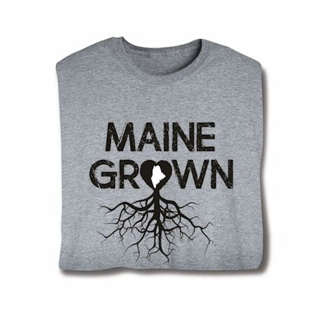 """Homegrown"" T-Shirt - Choose From Any State - Maine"