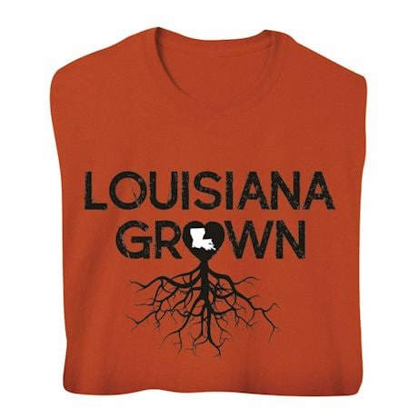 """Homegrown"" T-Shirt - Choose Your State - Louisiana"