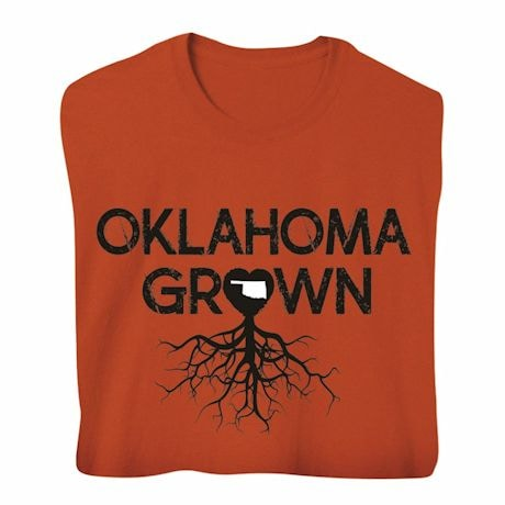 """""""Homegrown"""" T-Shirt - Choose Your State - Oklahoma"""