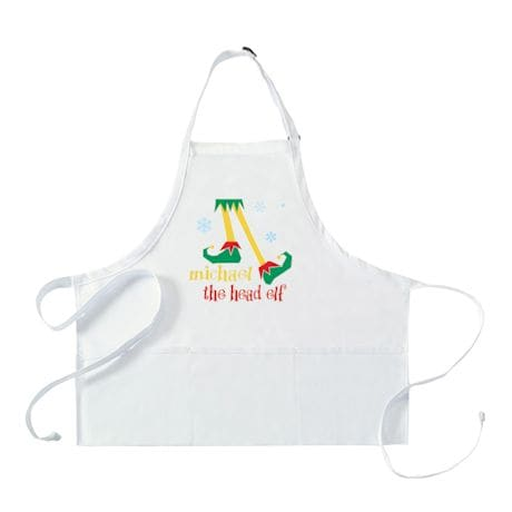 "Personalized Adult's ""Head Elf"" Apron"