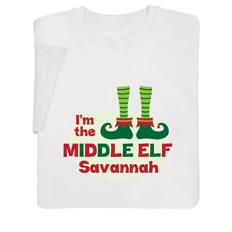 """Personalized """"Middle Elf"""" Shirt"""