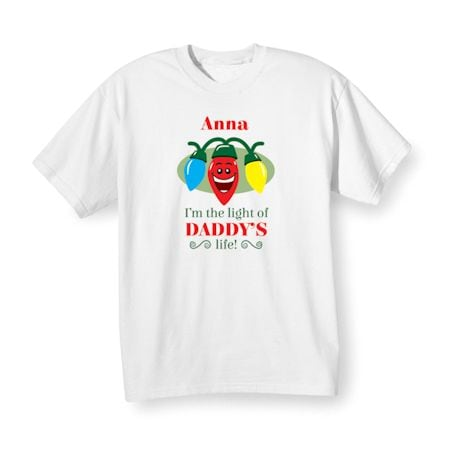 "Personalized Children's ""Light of {Name}'s Life!"" Shirt"
