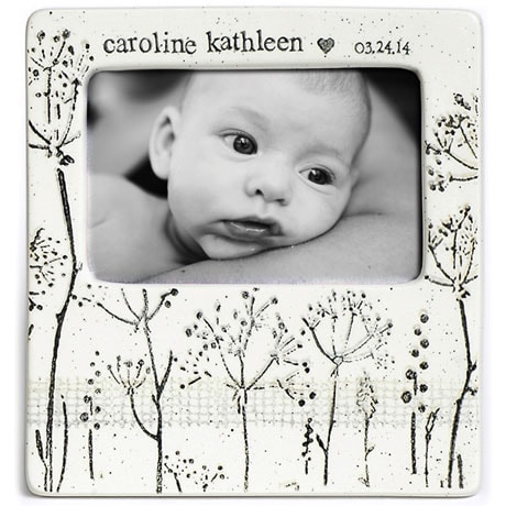 Handmade Ceramic Baby's Breath Photo Frame
