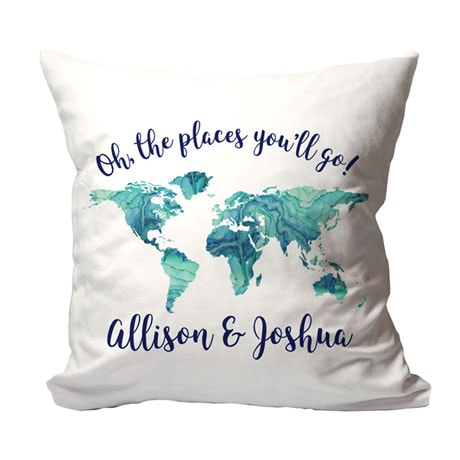 """Personalized """"Places You Will Go"""" Pillow"""