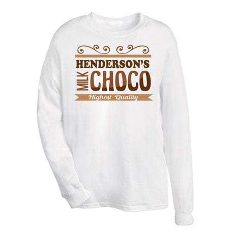 "Personalized ""Your Name"" Choco Tee"