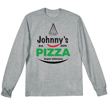 "Personalized ""Your Name"" Super Delicious Pizza Tee"
