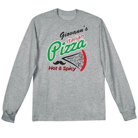 """Personalized """"Your Name"""" Hot & Spicy Pizza Tee"""