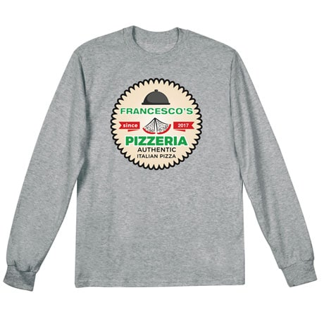 "Personalized ""Your Name"" Authentic Italian Pizza Tee"
