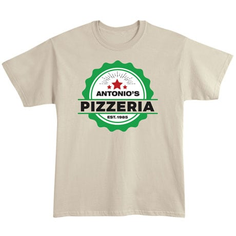 """Personalized """"Your Name"""" Pizzeria Tee"""