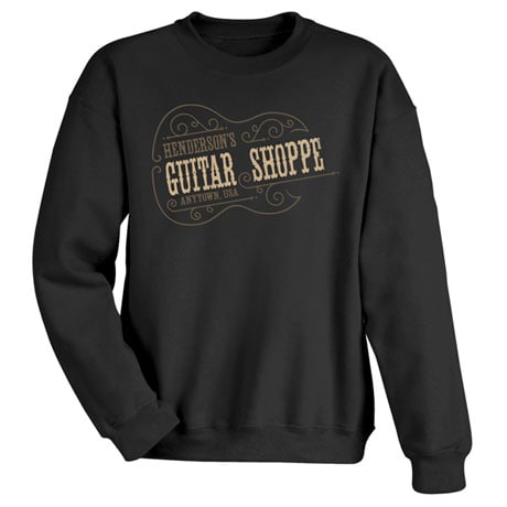 "Personalized ""Your Name"" Vintage Guitar Shoppe Tee"