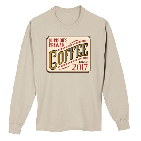 "Personalized ""Your Name"" Brewed Coffee Tee"