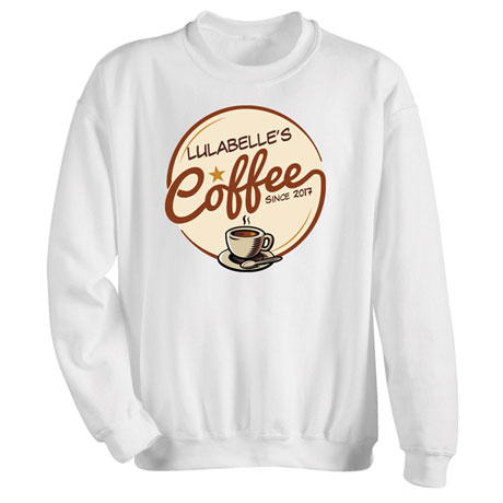 "Personalized ""Your Name"" Coffee Shop Tee"