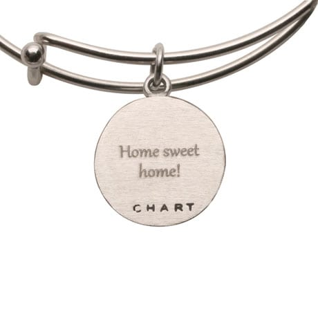 Engraved Custom Map Adjustable Bangle Bracelet