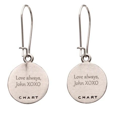 Engraved Custom Map Earrings