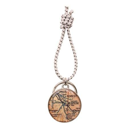 Engraved Custom Map Key Ring