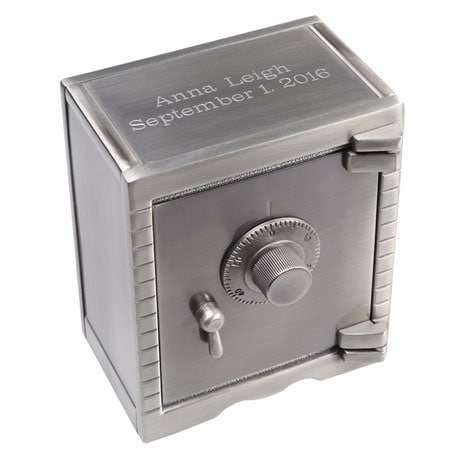 Personalized Vault Piggy Bank