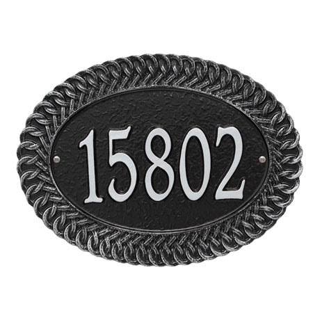 Personalized Chartwell Oval Address Plaque